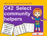 ABLLS-R ALIGNED ACTIVITIES C42 Select Community Helpers