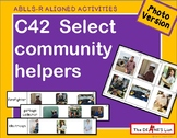 ABLLS-R ALIGNED ACTIVITIES C42 Select community helpers- Photo version