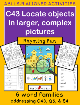 ABLLS-R ALIGNED ACTIVITIES C43 Locate objects in complex pictures: Rhyming Fun