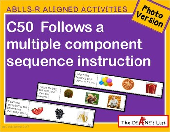 ABLLS-R ALIGNED ACTIVITIES C50 Follow multiple component sequence-Photo Version