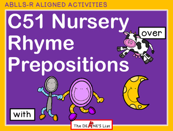 ABLLS-R  ALIGNED ACTIVITIES C51 Nursery Rhyme Prepositions