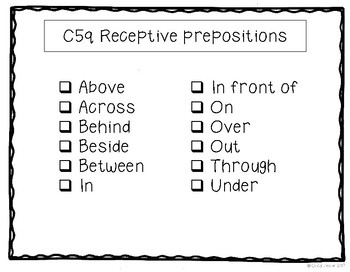 ABLLS-R ALIGNED ACTIVITIES C51 Receptive prepositions- Photo Version