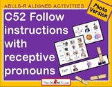 ABLLS-R ALIGNED ACTIVITIES C52 Selects pronouns- Photo Version