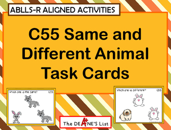 ABLLS-R ALIGNED ACTIVITIES C55 Same and Different Animal T