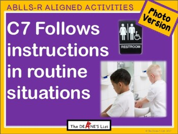 ABLLS-R ALIGNED ACTIVITIES C7 Follows instructions in routines-Photo version