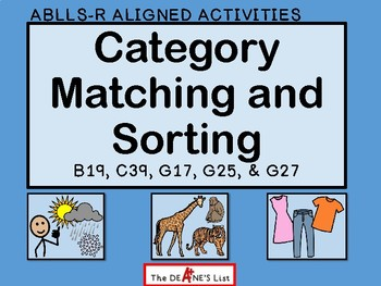 ABLLS-R ALIGNED ACTIVITIES Category Matching and Sorting