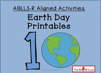 ABLLS-R ALIGNED ACTIVITIES Earth Day Printables