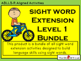 Special Ed Sight Word Extension Complete Level 1 Bundle