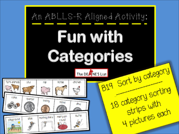 ABLLS-R ALIGNED ACTIVITIES Fun with Categories