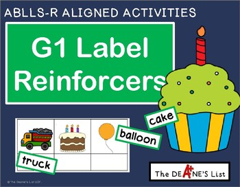 ABLLS-R ALIGNED ACTIVITIES G1 Label reinforcers