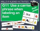 ABLLS-R ALIGNED ACTIVITIES G11 Carrier Phrase Labeling Flip Books- Photo Version