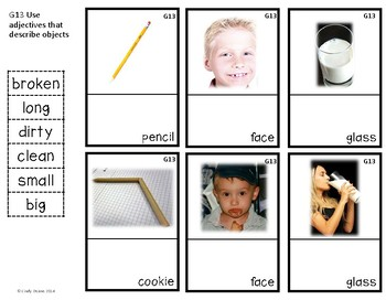 ABLLS-R ALIGNED ACTIVITIES G13 Label Adjectives Photo Version