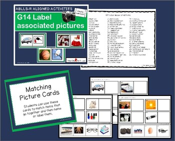 ABLLS-R ALIGNED ACTIVITIES G14 Label associated items- Photo Version