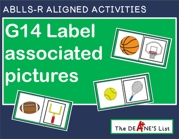 ABLLS-R ALIGNED ACTIVITIES G14 Label associated pictures