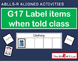 ABLLS-R ALIGNED ACTIVITIES G17 Label items when told class