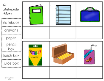 ABLLS-R ALIGNED ACTIVITIES G2/G4 Label 100 objects/pictures
