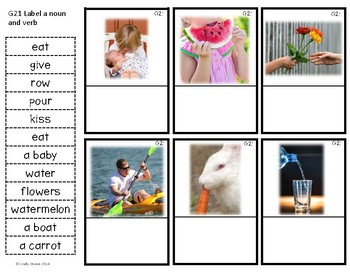 ABLLS-R ALIGNED ACTIVITIES G21 Label a noun & verb Photo Version