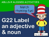 ABLLS-R ALIGNED ACTIVITIES G22 Label an adjective and a no