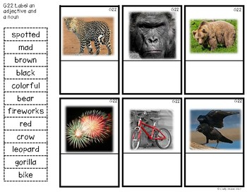 ABLLS-R ALIGNED ACTIVITIES G22 Label an adjective and a noun Photo Version