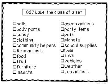 ABLLS-R ALIGNED ACTIVITIES G27 Label a category Photo Version