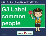 ABLLS-R ALIGNED ACTIVITIES G3 Label common people