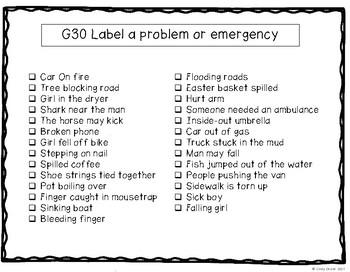 ABLLS-R ALIGNED ACTIVITIES G30 Identify a problem or emergency Photo Version