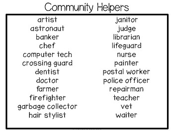 ABLLS-R ALIGNED ACTIVITIES G31 Label community helpers