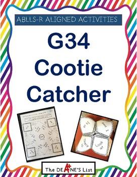 ABLLS-R ALIGNED ACTIVITIES G34 Cootie Catcher