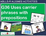 ABLLS-R ALIGNED ACTIVITIES G36 Uses carrier phrases with prepositions