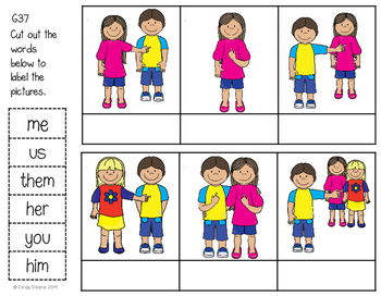 ABLLS-R ALIGNED ACTIVITIES G37 Label pronouns