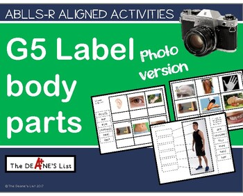 ABLLS-R ALIGNED ACTIVITIES G5 Label body parts- Photo Version