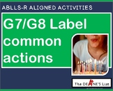 ABLLS-R ALIGNED ACTIVITIES G7/G8 Label common actions- Photo Version