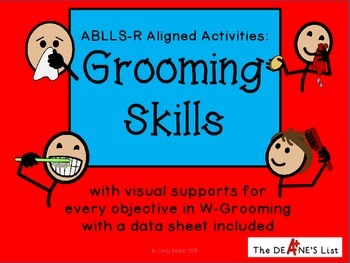 ABLLS-R ALIGNED ACTIVITIES W-Grooming Skills (with SymbolStix)
