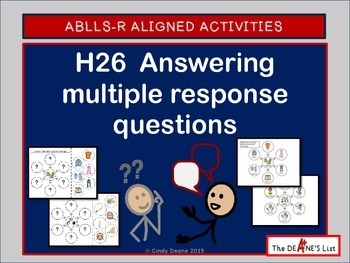 ABLLS-R ALIGNED ACTIVITIES H26 Answering multiple response