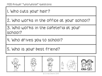 """ABLLS-R ALIGNED ACTIVITIES H28 Answer """"who"""" and """"whose"""" questions"""