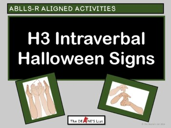 ABLLS-R ALIGNED ACTIVITIES H3 Intraverbal Halloween Signs