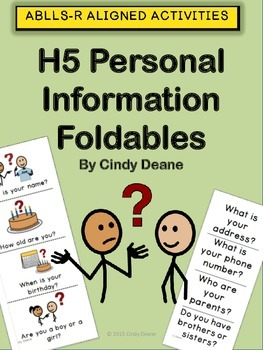 ABLLS-R ALIGNED ACTIVITIES H5 Personal Information Foldables