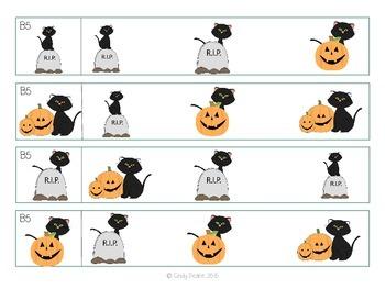 ABLLS-R ALIGNED ACTIVITIES Halloween Visual Performance Shoebox Activities