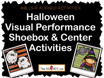 ABLLS-R ALIGNED ACTIVITIES Halloween Shoebox Activities