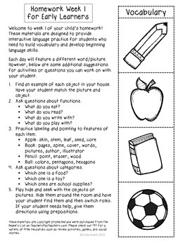 ABLLS-R ALIGNED ACTIVITIES Homework for Early Learners with Autism Set 1