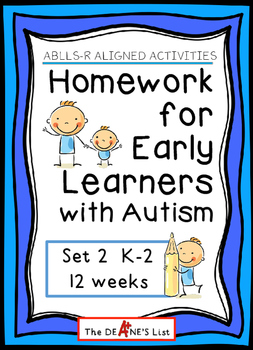 ABLLS-R ALIGNED ACTIVITIES Homework for Early Learners with Autism Set 2