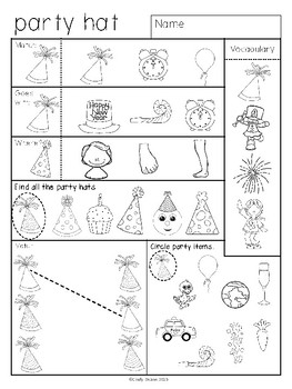 ABLLS-R ALIGNED ACTIVITIES Homework for Learners with Autism: Happy New Year