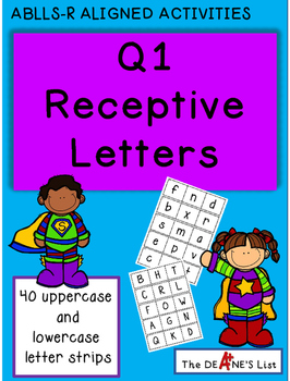ABLLS-R  ALIGNED ACTIVITIES Q1 Receptive Letters