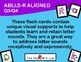 ABLLS-R ALIGNED ACTIVITIES Q3 and Q4 Letter Sounds Flashcards