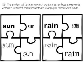 ABLLS-R ALIGNED ACTIVITIES Q6 Match the font puzzles--Spring