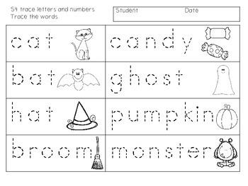 ABLLS-R ALIGNED ACTIVITIES  S-Halloween Writing