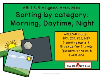 ABLLS-R ALIGNED ACTIVITIES Sorting by Category: Time of day