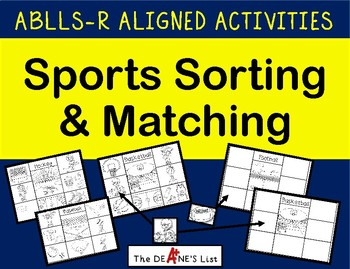 ABLLS-R ALIGNED ACTIVITIES Sports Sorting and Matching