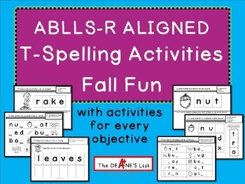 ABLLS-R ALIGNED ACTIVITIES T- Spelling Activities Fall Fun