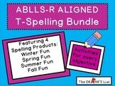 ABLLS-R ALIGNED ACTIVITIES T- Spelling Bundle- The 4 Seasons